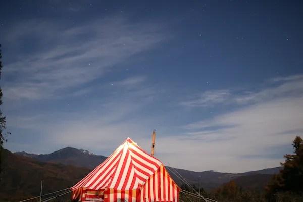 キャンプ星景写真