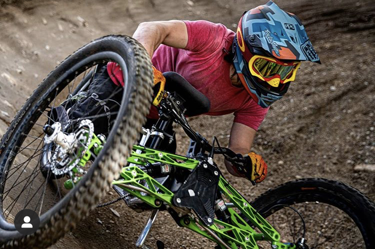 Adaptive Mountain Biker at Whistler Bike Park, by Niall Pinder