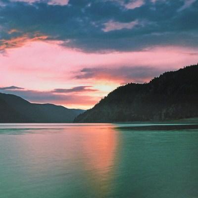 Duck Lake Sunset by Stefanie Harron
