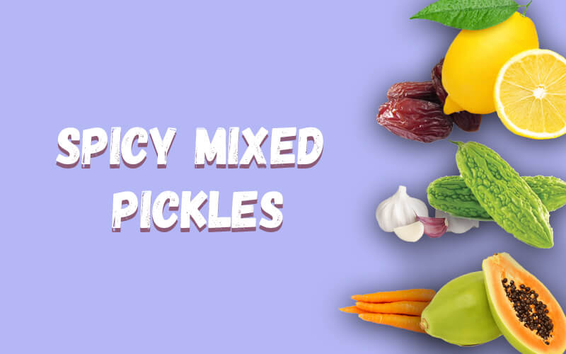 Spicy mixed pickles