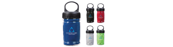 41087-Carabiner-Bottle-with-Cooling-Towel