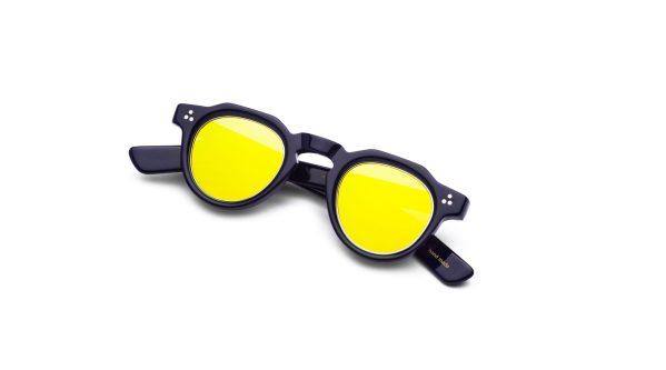 Navy Blue/Mirrored Yellow