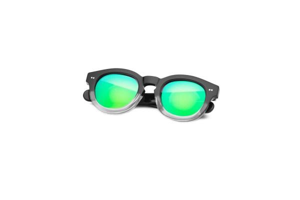 Black-Transparent/Mirrored Green