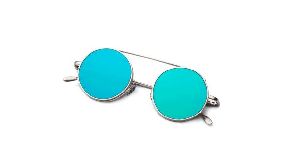Matt Silver/Green Silver Mirror