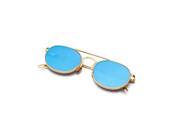 Shiny Gold/Blue Silver Mirror