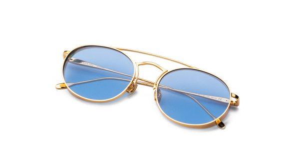 Shiny Gold/Light Blue