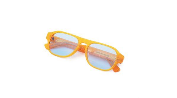 Transparent Orange/Light Blue