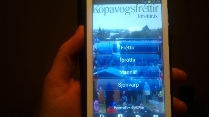 Kópavogsfréttir eru nú aðgengilegar með smáforriti fyrir Android síma.
