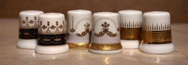 Naparstek porcelanowy Koplan zdobienie kalka ceramiczna złoto błyszczące, matowe, kolor