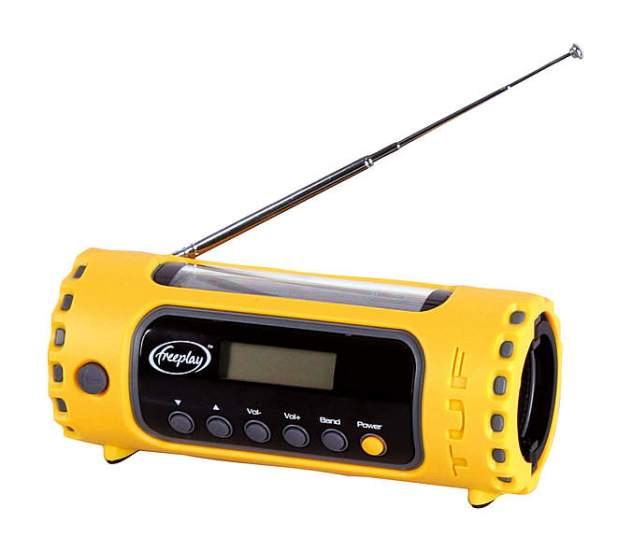 Kurbelradio Freeplay TUF Multi Band / Solar mit Taschenlampe