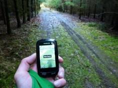 GPS Voarbeit hilt durch den Wald, ohne wäre es zum Teil schwierig