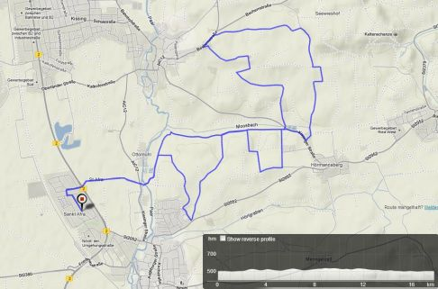 Osterkreuzlauf Kissing 17,8km, 220Hm