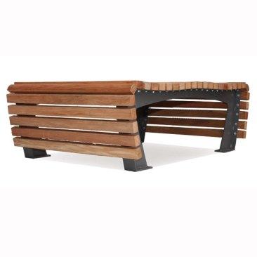 Dubbelzijdige zitbank Tapis de bois
