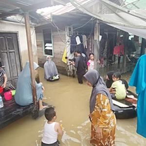 Banjir Susulan di Satui, Warga; Meski Begitu Tetap di Rumah Saja