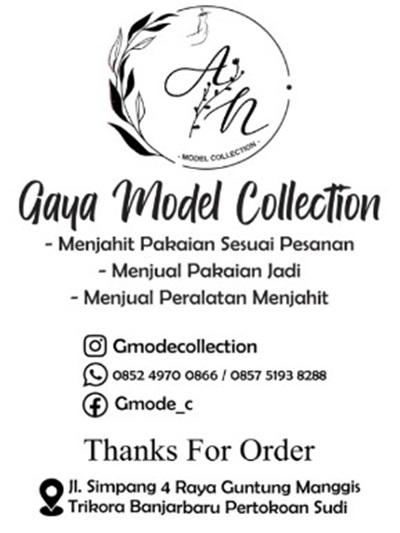 Jasa yang ditawarkan Gaya Model Collection.