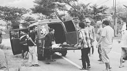 Tabrak lari yang menewaskan Ramli di wilayah Liang Anggang Kota Banjarbaru menuju Kota Pelaihari, Kalimantan Selatan. (foto: ist)