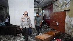 Kebakaran di ruang Satreskrim Polresta Banjarmasin. (foto: yanda)