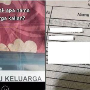 Viral Nama Anak di Kartu Keluarga, Semua Pakai 'Dot Com'