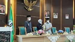 Rapar paripurna di DPRD Kabupaten Batola. (foto: ist)