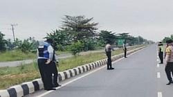 Penyekatan atau operasi yustisi di Jl Gubernur Soebardjo Banjarmasin. (foto: ist)