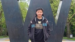 David Purnomo di kampus University of Washington, Seattle, Amerika Serikat.