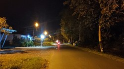 PJU di Jalan Sudirman Kota Marabahan kini sudah berfungsi. (foto: faqih)