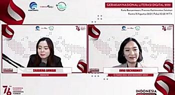 Webinar Literasi Digital Banjarmasin.