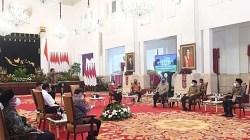 Jokowi saat berbicara dengan petinggi partai politik di Istana Negara, Jakarta. (istimewa)