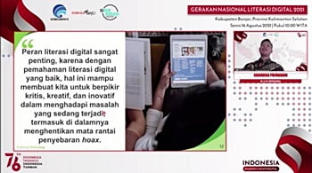 Webinar Literasi Digital Kabupaten Banjar.