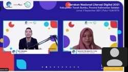 Webinar Literasi Digital Tanah Bumbu; Etika Dunia Digital: Pahami dengan Literasi yang Tepat. Foto: Bidik layar/KBnet