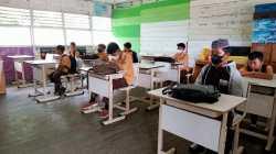 Proses pembelajaran tatap muka SDN Batang Ilir 2, Sabtu (11/9/2021). Foto: Dewi/KBnet