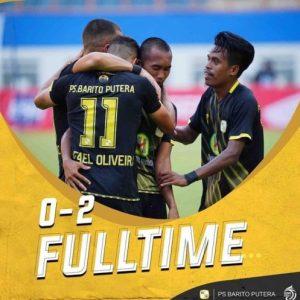 Akhiri Catatan Buruk, PS Barito Putera Tumbangkan PSM Makassar dengan 2 Gol