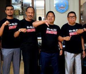 Pimpinan DPRD Banjar Pakai Kaos 'KOALISI DUNGU', Saidan Fahmi; Semoga Tidak Menjadi Do'a