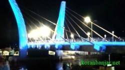 Jembatan Sungai Alalak di Kota Banjarmasin, Kalsel.