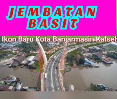 Jembatan Ikon BaJembatan ikon Banjarmasin.(foto: Grup WhatsApp Forum Silaturrahmi)