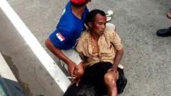 Sarifuddin saat mengalami kecelakaan tunggal di Kabupaten Batola. (foto: faqih)