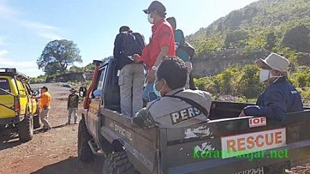 Offroad sekaligus adventur yang digelar Korem 101 Antasari bersama IOF kalsel dengan melibatkan wartawan Kalsel. (foto: leon)