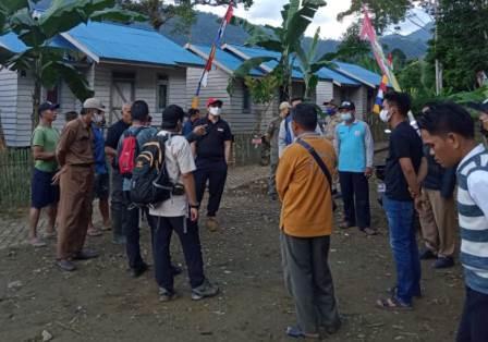 Persiapan kedatangan Mensos RI ke Kabupaten HST. (foto: ramli)