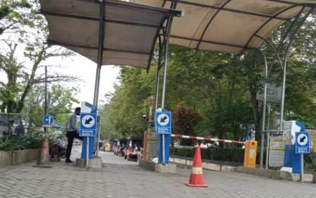 Portal elektronik Pasar Keramat Barabai di Kabupaten HST. (foto: ramli)