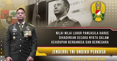 Kasad Jenderal TNI Ikuti Upacara Virtual Peringati Hari Lahir Pancasila