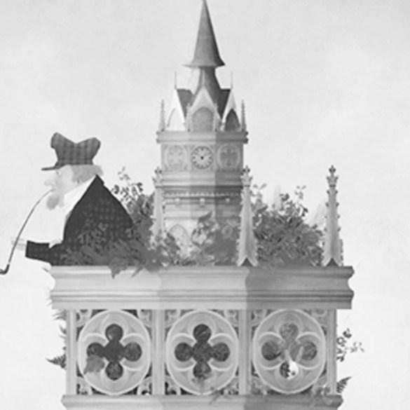 En lo alto de la torre-Albert Robida