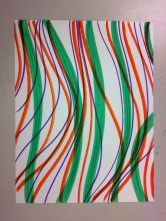 What lines describe you? Curvy lines? What colors are you choosing? Why?