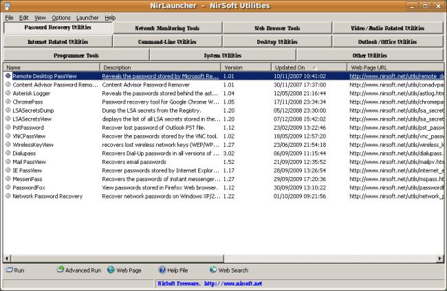 Capture-NirLauncher  -  NirSoft Utilities