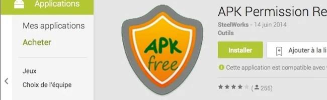 Découvrez APK Permission Remover pour enlever les permissions invasives de vos applications