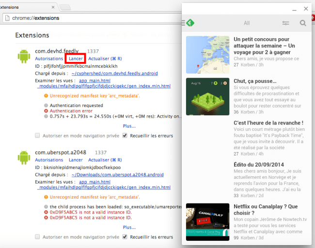 feedly 650x512 Tuto : Faire tourner des applications Android sous Windows, OSX et Linux