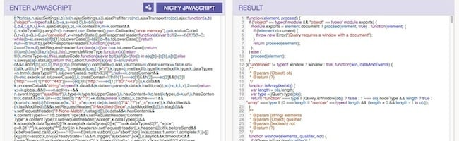 Comment déminifier un code Javascript