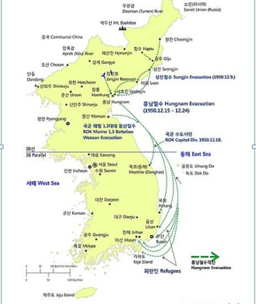 Hungnam Evacuation Map