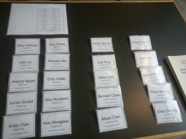 Name Tags for the Participants!