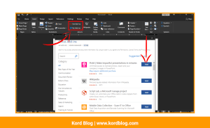 Add-ins in Microsoft Word