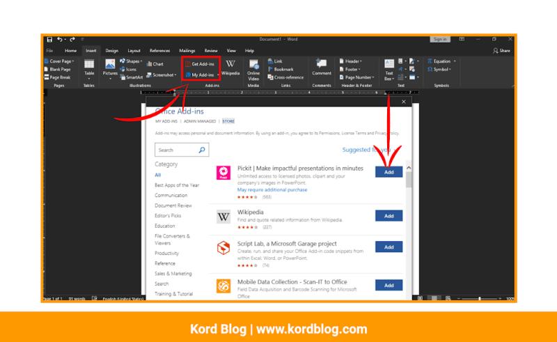 Microsoft Word Add-Ins